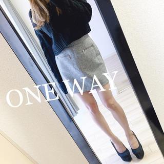 ワンウェイ(one*way)のONE WAY ミニスカート(ひざ丈スカート)