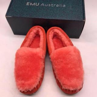 エミュー(EMU)の新品emu シープスキン スエードモカシン ケアンズ リバース ファー(スリッポン/モカシン)