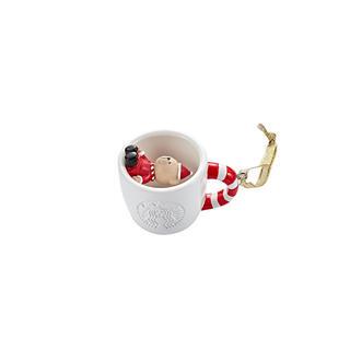 スターバックスコーヒー(Starbucks Coffee)の韓国 スタバ ベア イン ホワイト カップ オーナメント クリスマス(その他)