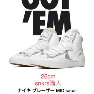 サカイ(sacai)のナイキ Nike×sacai ブレザーMID 26cm(スニーカー)