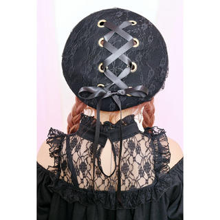 MA*RS - 【新品】Princess Melody レースアップりぼんベレー帽 ブラック