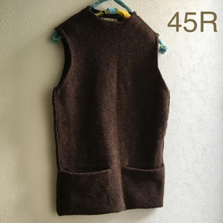 45rpm - 45R wool 100% ベスト