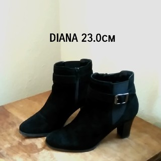 DIANA - 【DIANA ショートブーツ】23.0cm ダイアナ 革 サイドファスナー