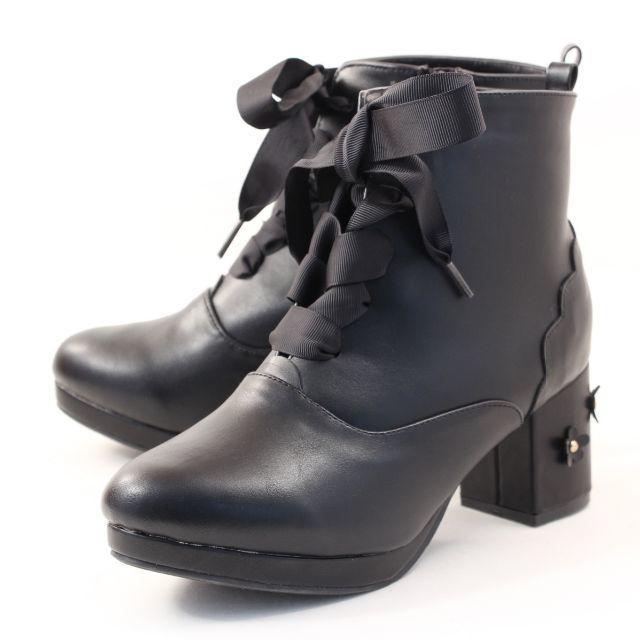 LIZ LISA(リズリサ)のLIZ LISA  リズリサ レースアップブーツ PLZ8075 BL M レディースの靴/シューズ(ブーツ)の商品写真