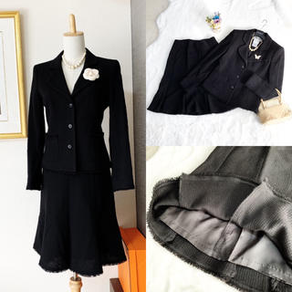 René - 美品 Rene ルネ ツイード スーツ ブラック フォーマル