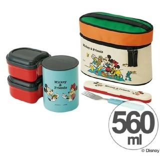ミッキーマウス(ミッキーマウス)のミッキー 新品 フォークケース 保温ジャー ランチボックス 560(弁当用品)