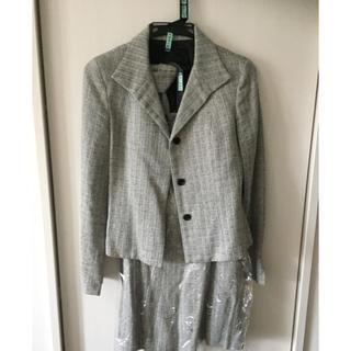 アンタイトル(UNTITLED)のアンタイトル ウール チェック ツイード スーツ 黒 モノトーン(スーツ)