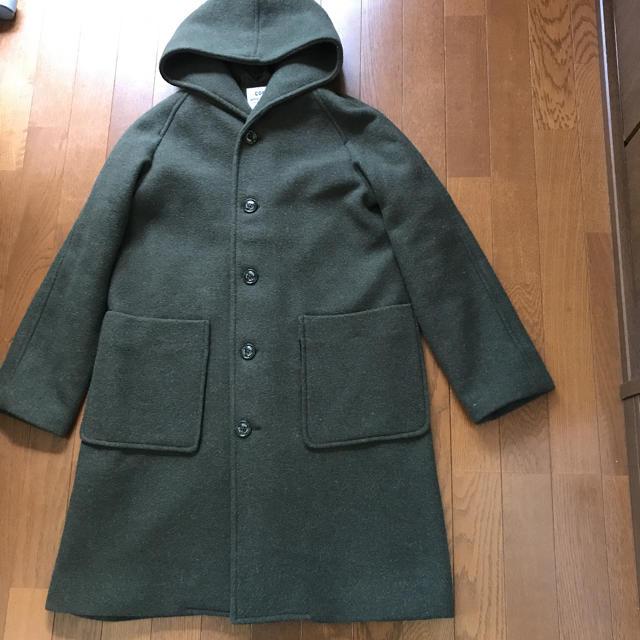 coen(コーエン)の新品 coen  コート フード付き Lサイズ レディースのジャケット/アウター(ロングコート)の商品写真