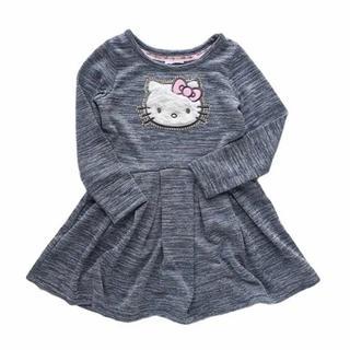 キッズ Hello Kitty ニット ワンピース 子供服 90cm(ワンピース)