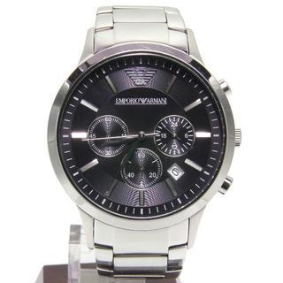 エンポリオアルマーニ(Emporio Armani)のエンポリオ アルマーニ 腕時計 AR-2434 クロノグラフ メンズブラック(腕時計(アナログ))