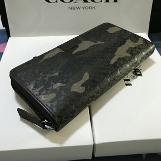 COACH - 未使用品COACH 長財布 コーチメンズレディースジッパー財布F74546