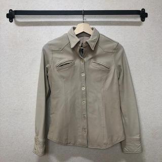 エディーバウアー(Eddie Bauer)のEddieBauer レザーシャツ(シャツ/ブラウス(長袖/七分))