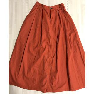 オレンジ ロングスカート(ロングスカート)