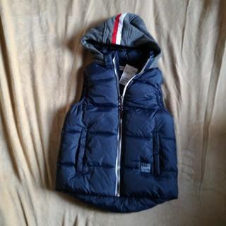 H&M 新品 中綿ベスト フード付き サイズ120~130 ネイビー