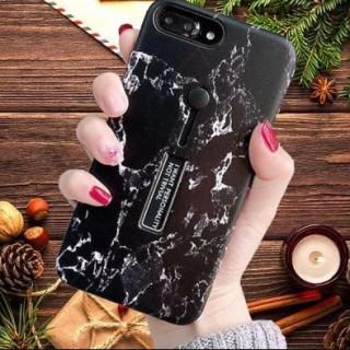 大理石柄 iPhoneケース iPhone7/8 ブラック 便利 スライドリング