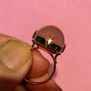 ローズクォーツリング(リング(指輪))