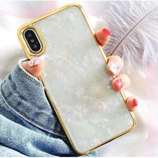 iPhone 7/8 シェルホワイト iPhoneケース カバー シェル 貝殻