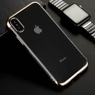 iPhoneX / XS ゴールド 背面 クリア ソフトケース