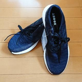 adidas - 27.0cm アディダス ピュアブースト 黒 ランニングシューズ