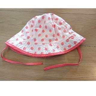 エイチアンドエム(H&M)のキッズ 子供 帽子 50 女の子 H&M 美品 1歳 2歳(帽子)
