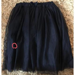 ブリーズ(BREEZE)のBREEZE  黒チュールスカート 120(スカート)