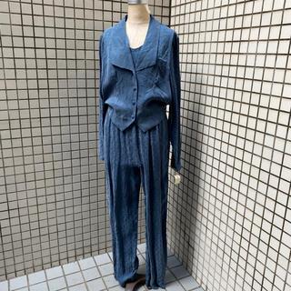 ビンテージ デザイン オールインワン タグ付き アメリカ製 古着 女子 1211(オールインワン)