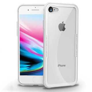 iPhone8 / iPhone7 背面ガラス クリアケース 白色 tpu 透明