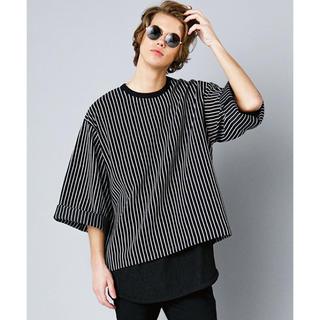シャリーフ(SHAREEF)のKirov STRIPE PULL-OVER Q/S(Tシャツ/カットソー(七分/長袖))