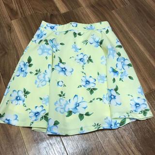 ワンウェイ(one*way)の花柄のスカート(ひざ丈スカート)
