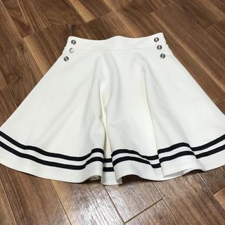 INGNI - アイボリーのツインラインスカート