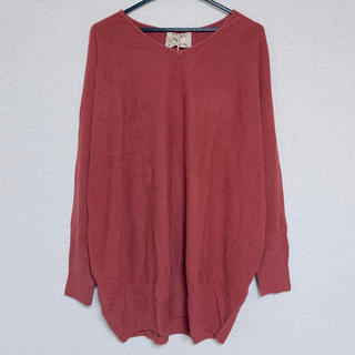 ドルマン ニット カシミヤタッチ Vネック 大きいサイズ 長袖(ニット/セーター)