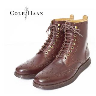 コールハーン(Cole Haan)のコールハーン ルナグランド ウィングブーツ チェスナット(茶色) 26.5(ブーツ)