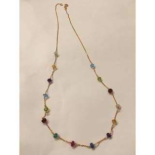 18k 天然石 マルチカラー ネックレス(ネックレス)