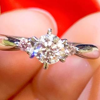 美品❗️最高品質 pt950 プラチナ ピンクダイヤリング プラチナリング(リング(指輪))
