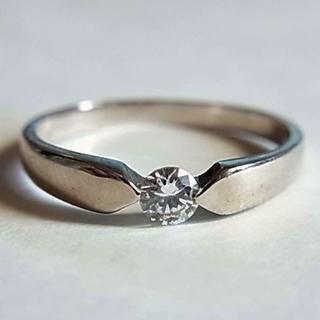 新品SVシルバー925リング指輪11号キュービックジルコニア人工ダイヤCZ(リング(指輪))