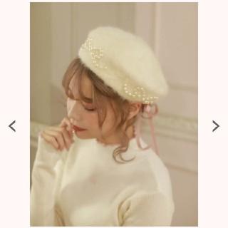 スワンキス(Swankiss)の swankiss アンゴラ ベレー帽 ホワイト タグ付き(ハンチング/ベレー帽)