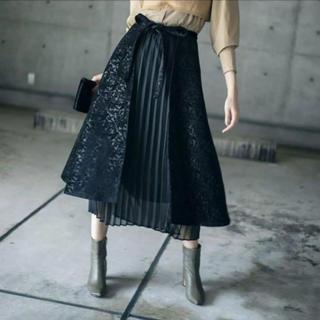Ameri VINTAGE - アメリヴィンテージ スカート ブラック プリーツ 2way  アラベスクスカート