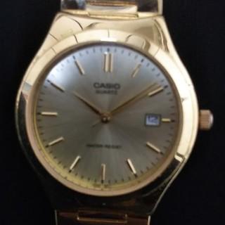 カシオ(CASIO)のカシオ  ゴールド  メンズ腕時計(腕時計(アナログ))