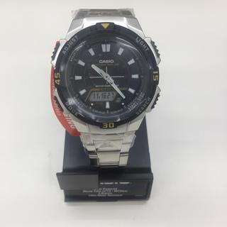 カシオ(CASIO)のCASIO 100m防水 ソーラー充電 アナデジ アラーム&ワールドタイム腕時計(腕時計(アナログ))