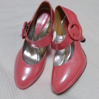 キャンディッシュ(CANDISH)の新品 ピンク 太いベルトの可愛いハイヒールパンプス(ハイヒール/パンプス)
