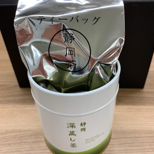 静岡茶(二缶)急須用&ティーバッグ 食品/飲料/酒の飲料(茶)の商品写真