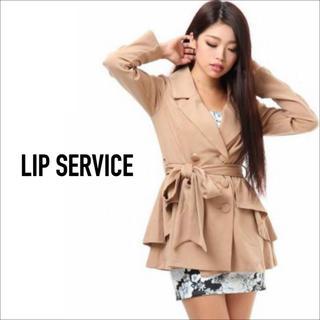 LIP SERVICE - LANG SERVICE ドレープフレア トレンチ アウター♡RESEXXY