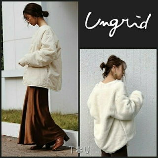 Ungrid - 【新品】 ungrid キルティングリバーシブルボアコート