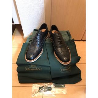 チャーチ(Church's)の新品 CHURCH'S BURWOOD メッシュ 39 ウィングチップ(ローファー/革靴)