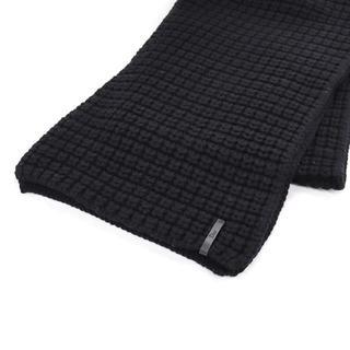クリスチャンディオール(Christian Dior)のChristian Dior ウール マフラー ブラック 黒 厚手 A1770(マフラー/ショール)