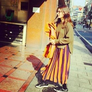 Ameri VINTAGE - AMERI☆バイカラープリーツスカート