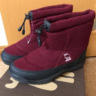 THE NORTH FACE - moz あったか防水防滑ブーツ レッド 23.5cm 新品未使用