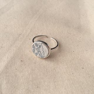 大理石リング白 新品 汚れあり 18号(リング(指輪))