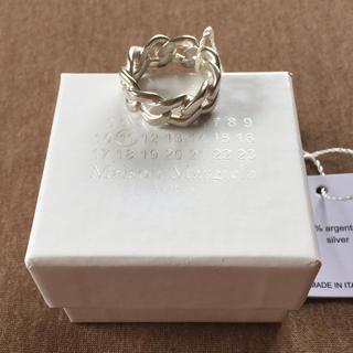 Maison Martin Margiela - L新品 メゾンマルジェラ シルバー チェーン リング 指輪 メンズ