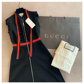 グッチ(Gucci)の【値引】グッチ GUCCI ♡ ヴィスコース ジャージドレス xs タグ付き(ミニワンピース)